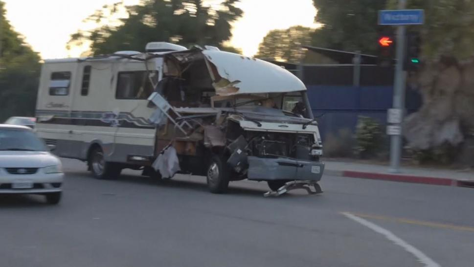 The RV Rainbird was driving was reportedly bought using stolen identification.