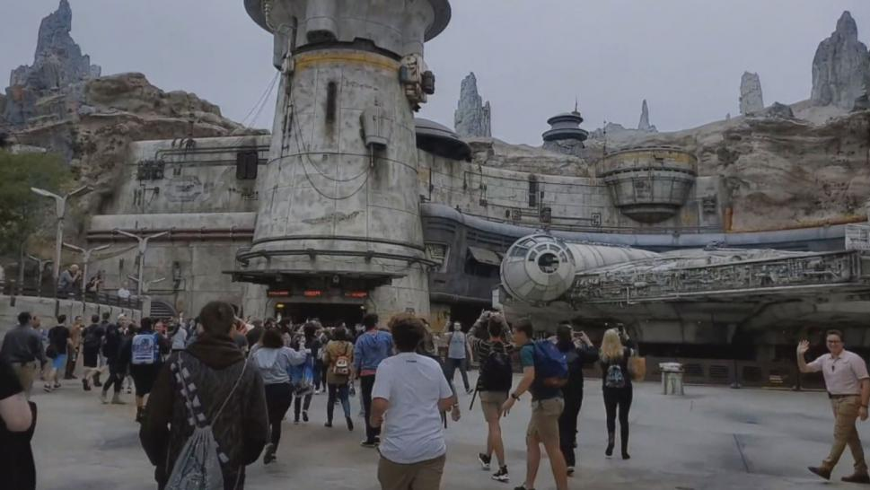 """Star Wars: Galaxy's Edge"" is the largest and most technically advanced single theme park expansion ever at Disneyland in California."