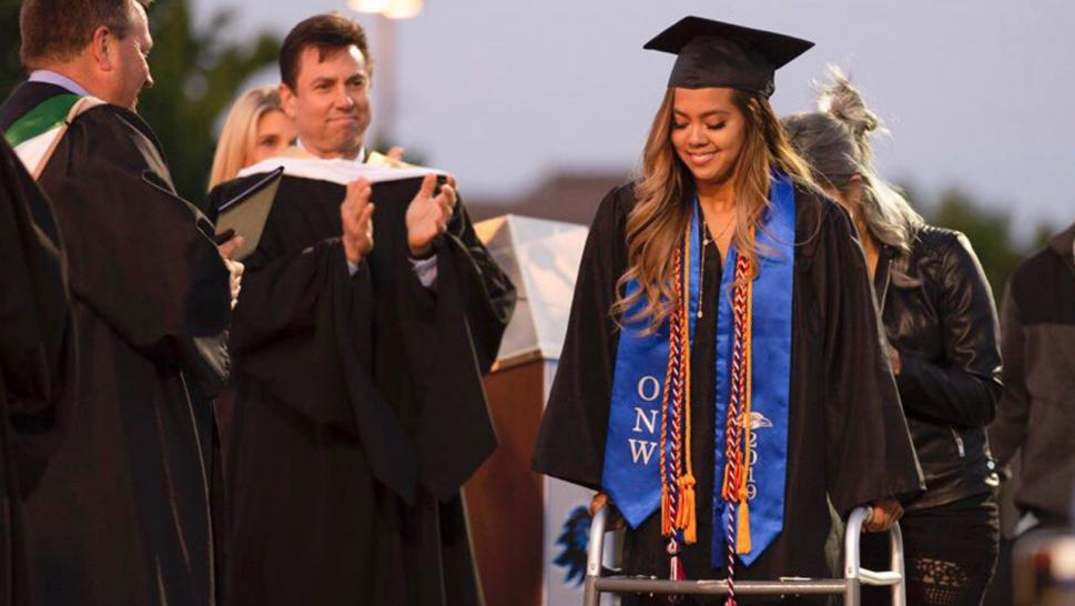 For Anna Sarol, 18, graduation day was a celebration of more than just studying hard.
