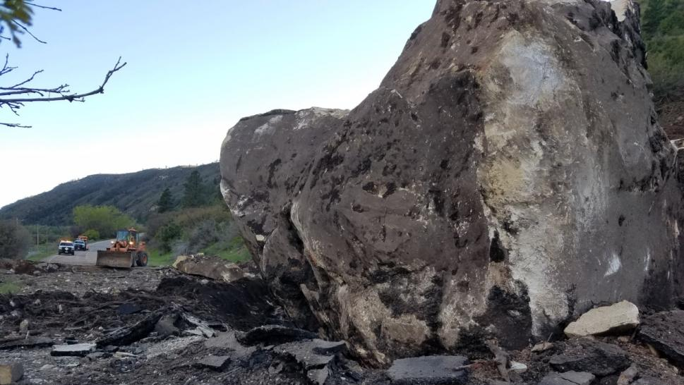 Massive rockslide closes highway in southwest Colorado