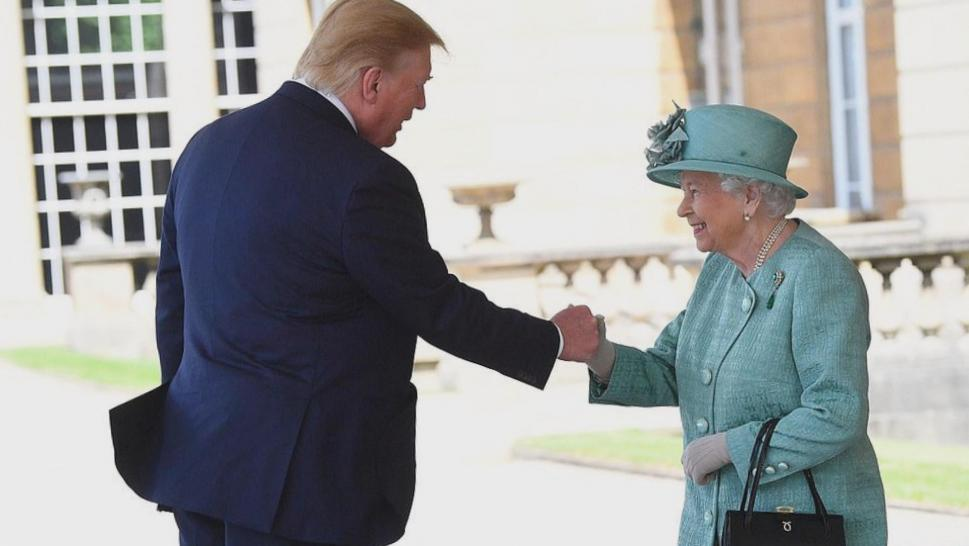 President Trump and Queen Elizabeth