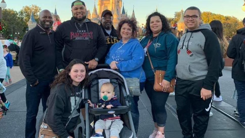 The family went to Disney for Thanksgiving.