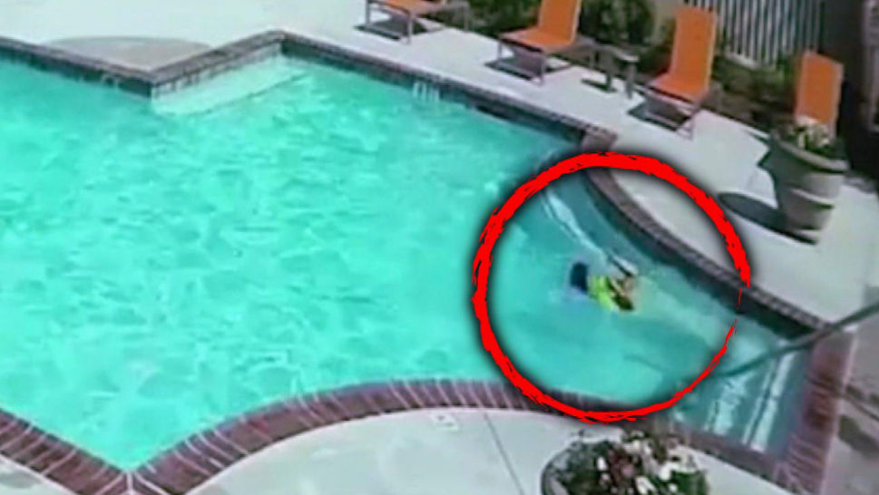 Sister Jumps Into Pool to Rescue Drowning 3-Year-Old