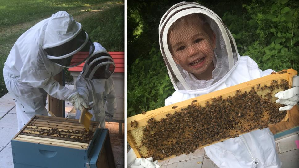 3 year old beekeeper