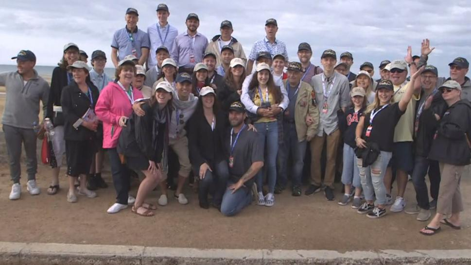 Frank DeVita and dozens of family members and friends traveled to the French beach for the 75th anniversary of the battle that shifted the course of World War II.
