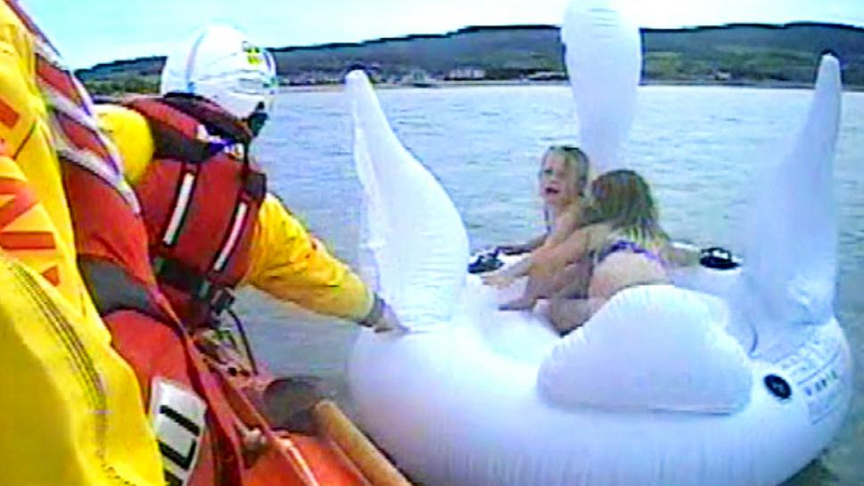 Rescued from swan float
