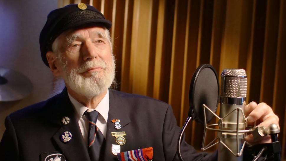 Jim Radford wrote a song to remember his experiences in Normandy on D-Day.