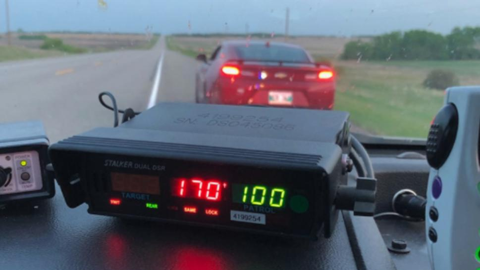 The driver was issued two fines both totaling $881.