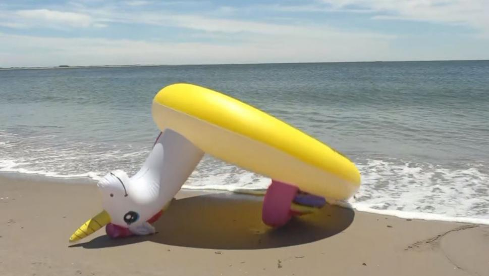 "Inside Edition spoke to swim safety expert Jim Spiers, who said the unique floaties ""are not really made for the ocean."""