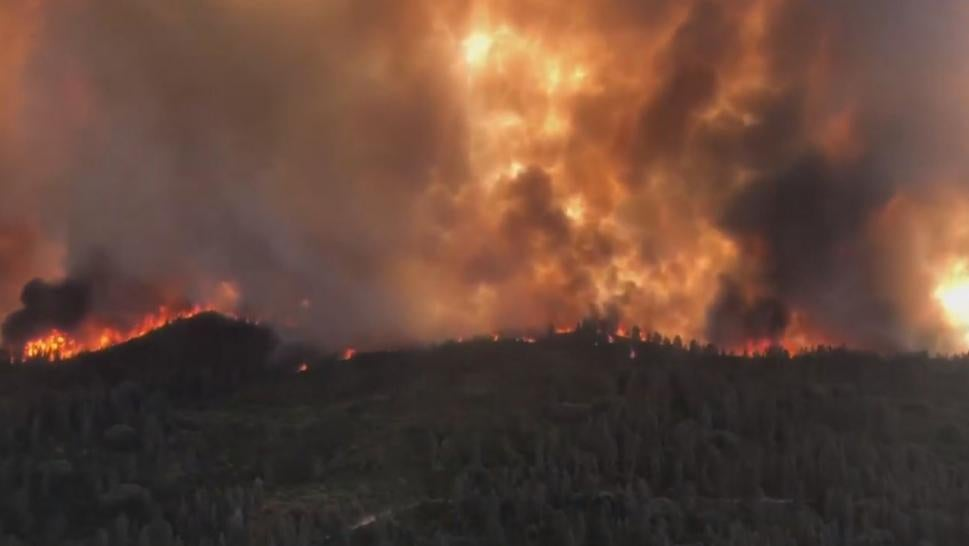 The fire then destroyed 150 homes with 410,203 acres going up in smoke, half the size of Rhode Island. A firefighter was killed when a tree fell on him.