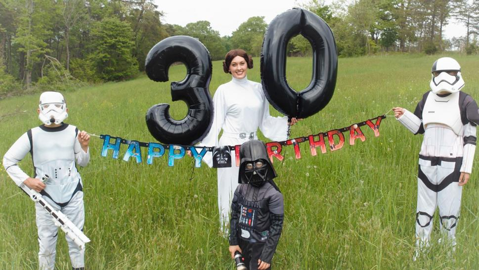 Michael Crane snapped pics of his wife, Jennifer, dressed as Princess Leia and their 4-year-old son, Hunter, dressed as Darth Vader. Aubrianna, 11, and Chase, 9, dressed up as matching Stormtroopers.