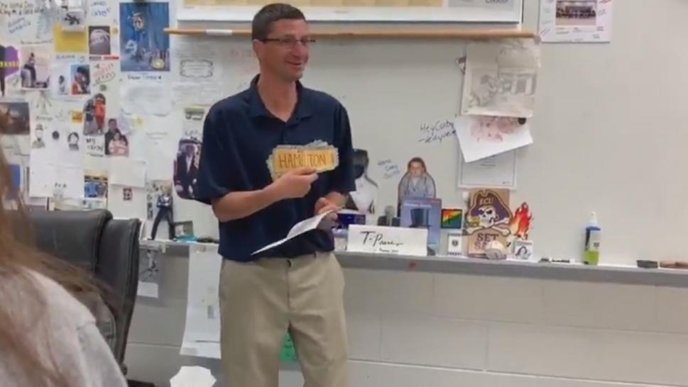 A history teacher just got the best end-of-year gift ever from his students.