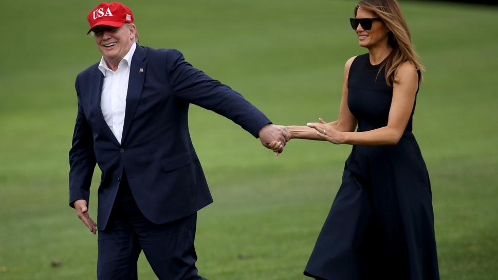 President Trump and Melania Trump return to the White House on June 7.
