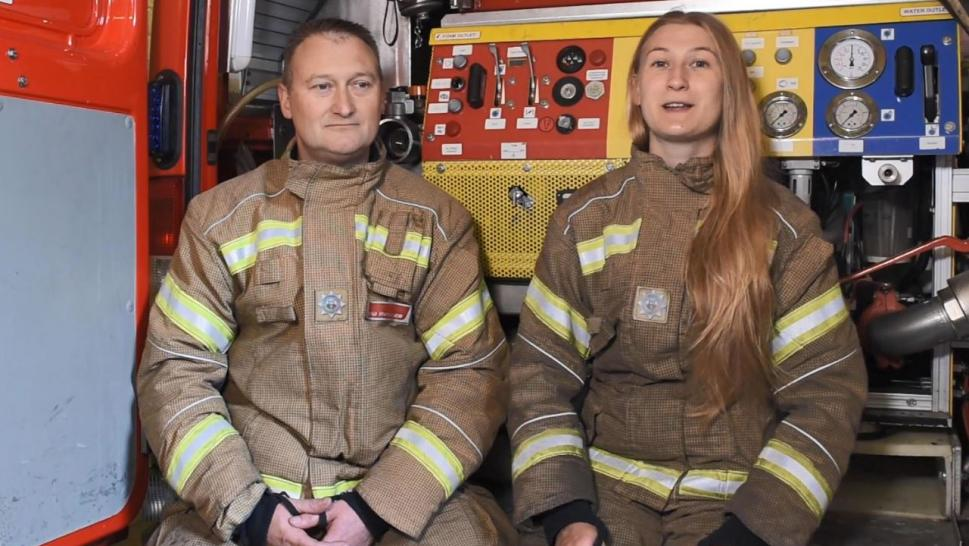 Father and Daughter Are Firefighting Pair