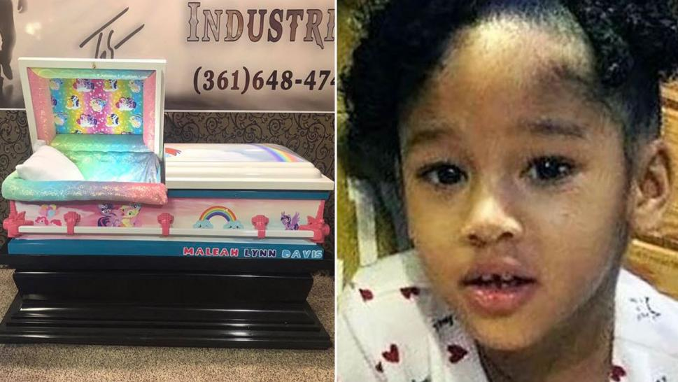 "The final resting place of Maleah Davis has been made to encapsulate the cheerful whimsy the Texas 4-year-old delighted in, as the little girl will be buried in a casket adorned with artwork from ""My Little Pony."""
