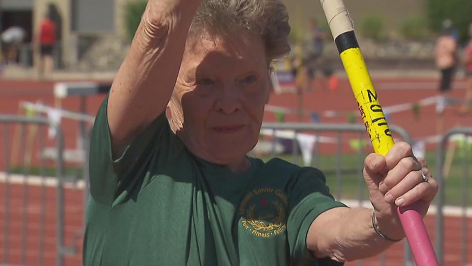 The Senior Games sees senior citizens compete in different sports.