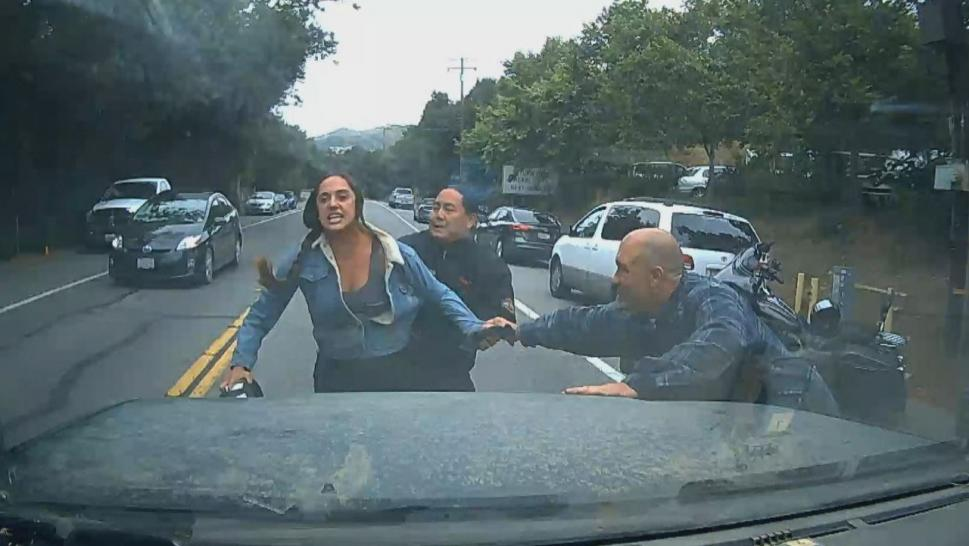 Road rage incident in California