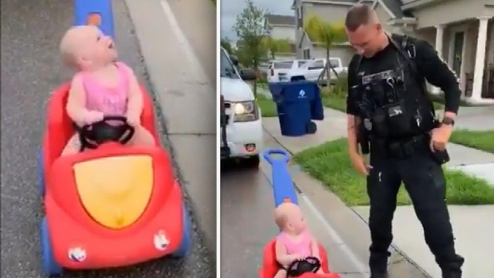Cops Pull Over Toddlers