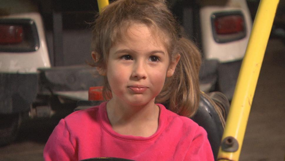 This little girl was scalped while riding a go-kart.