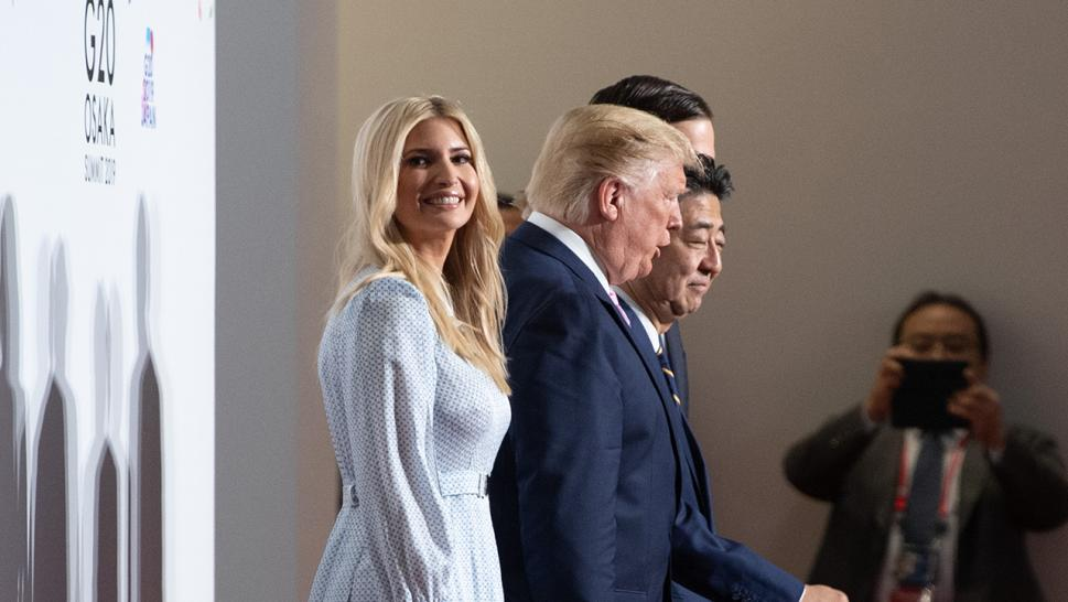 Ivanka Trump is pictured at the G-20 summit in Japan.