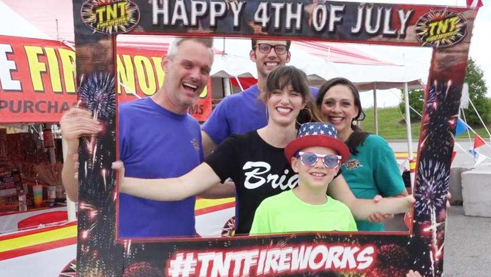 Bride-to-be Sarah Ashley Bryant and her whole family are selling fireworks to pay for her wedding.