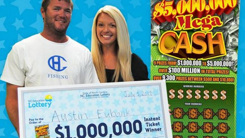 "Austin Eubank told the North Carolina Education Lottery he ""doesn't normally play,"" but on Tuesday he took a chance."