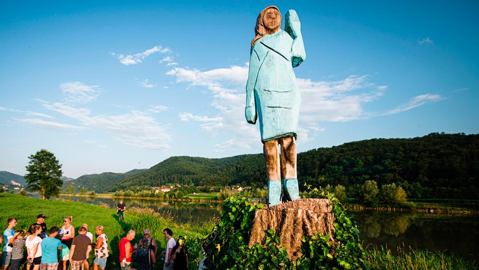 A life-size statue of Melania Trump is getting some pushback in her Slovenian hometown for looking nothing like her.