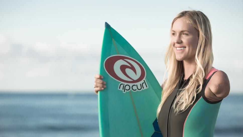 "Bethany Hamilton is inspiring others to overcome their challenges in her new documentary, ""Unstoppable."""