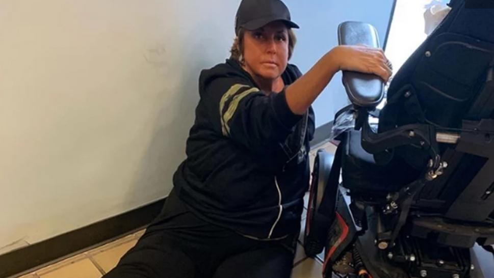 Abby Lee Miller is furious with American Airlines after she says she was left on the airport floor for 40 minutes when she fell out of her wheelchair earlier this week.