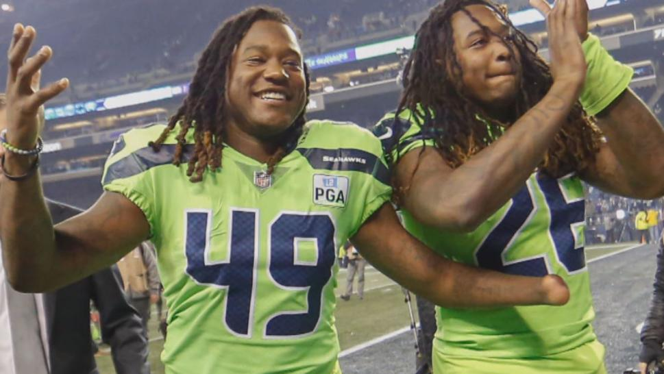 Shaquem and Shaquill Griffin are identical twin brothers who both play defense for the Seattle Seahawks.