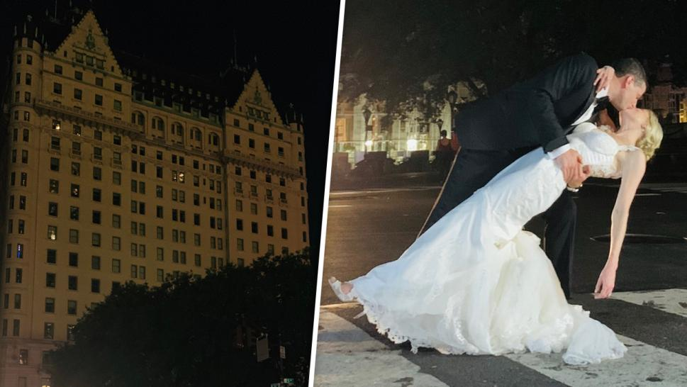 Couple's New York Wedding Goes On During Blackout at Iconic Plaza Hotel