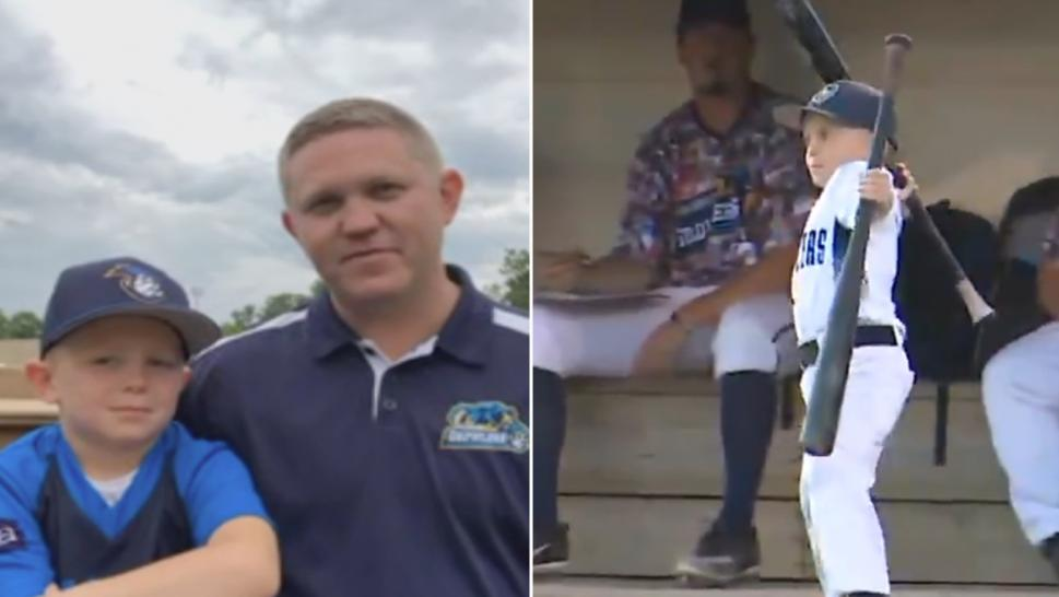 Six-year-old Coach Drake Livingston, an honorary coach with the Kalamazoo Growlers in Michigan, is a huge hit at the games. But his fiery temper sometimes gets him into trouble, as was the case this past Saturday.