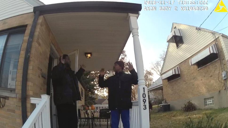 Officers responded to the home, where a black realtor was showing a prospective buyer the home.
