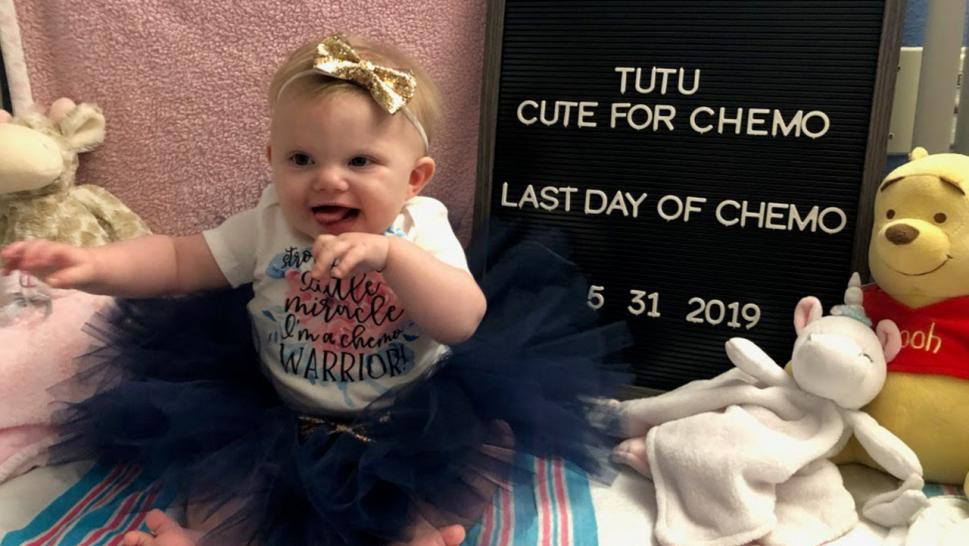 This Toddler Underwent 10 Rounds of Chemo for a Brain Tumor