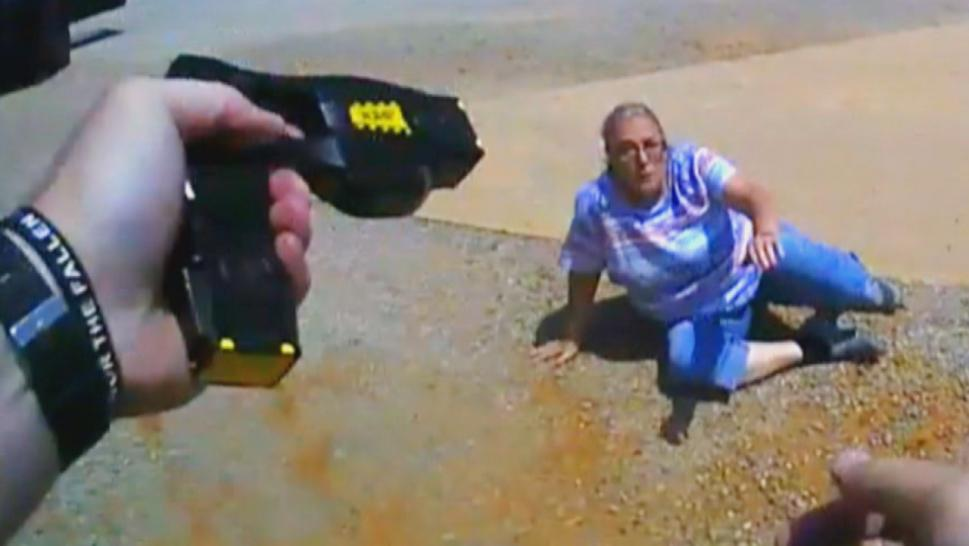 Woman tased