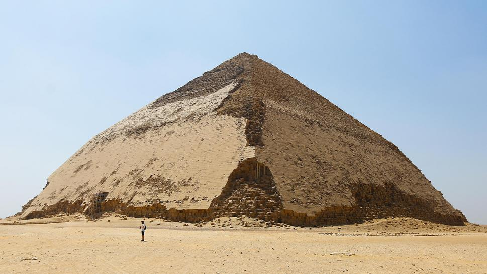 Sneferu's Bent Pyramid is one of the earliest constructed pyramids.