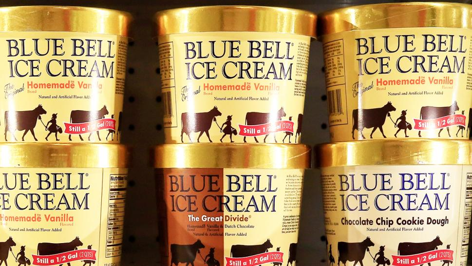 Another person was caught licking Blue Bell ice cream before returning it into the display case, authorities said.