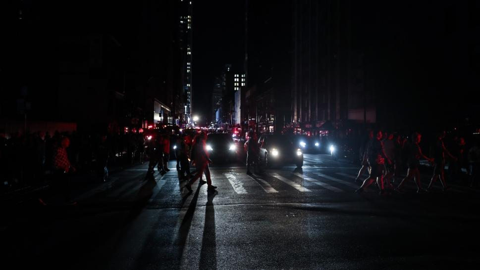 Midtown Manhattan was plunged into darkness when a power outage swept the area.