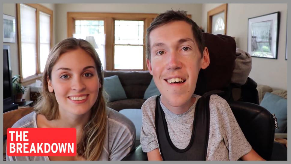 Shane Burcaw popped the question to Hannah Aylward in June, a few years after they first met online. They document their relationship on YouTube.