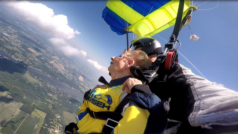 Pair of Grandmothers Go Skydiving Thanks to Non-Profit