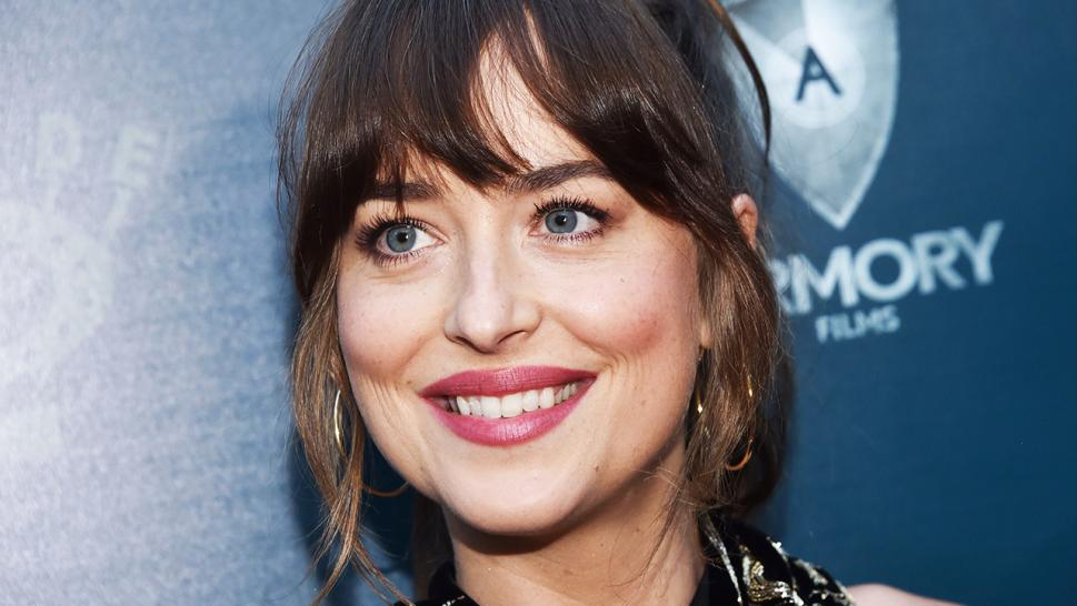 "Dakota Johnson debuts her new look for the first time at the LA special screening of ""The Peanut Butter Falcon."""