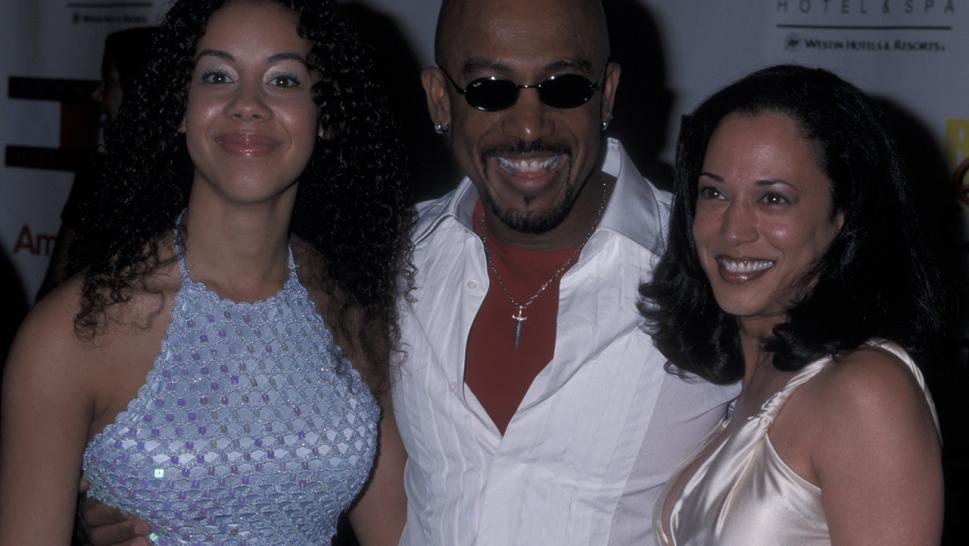 Kamala Harris (right) in 2001 with Montel Williams and his daughter Ashley.