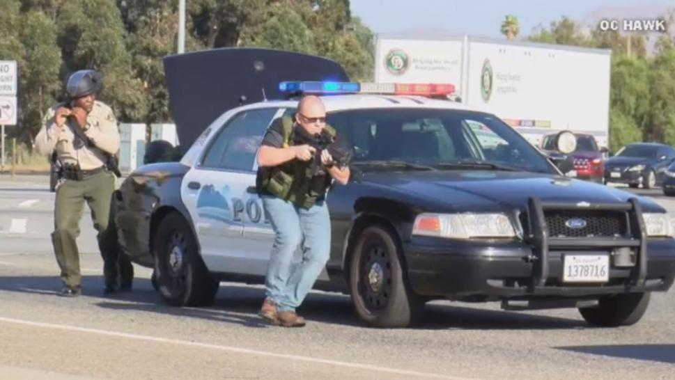 Innocent Commuters Caught in Shootout on California Freeway