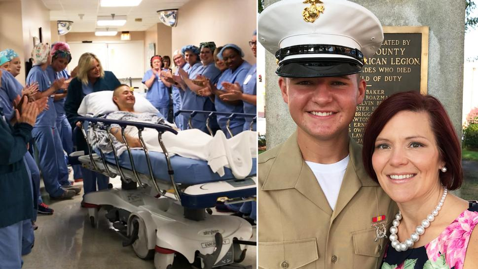 Hospital staff lined the halls and cheered as 17-year-old Micah Wooten was being wheeled to post-op.