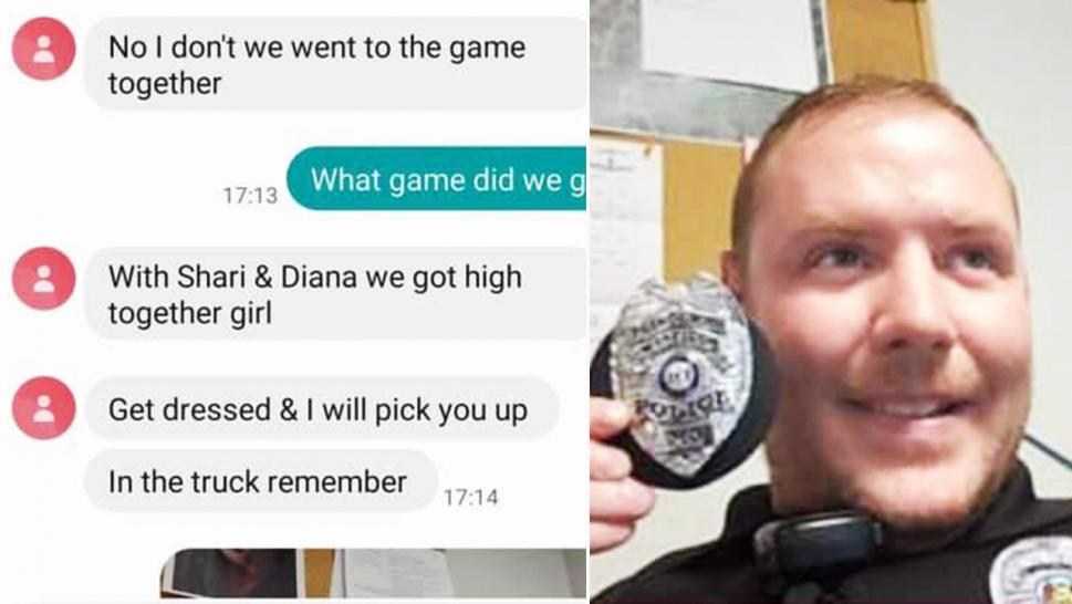 It was an embarrassing case of wrong number when someone texted a police officer about getting high.