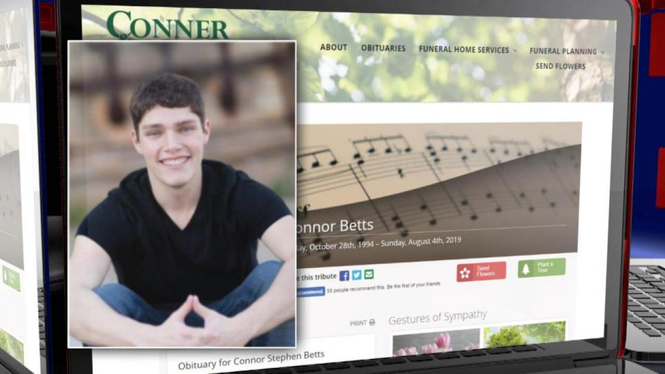 Connor Betts' obituary