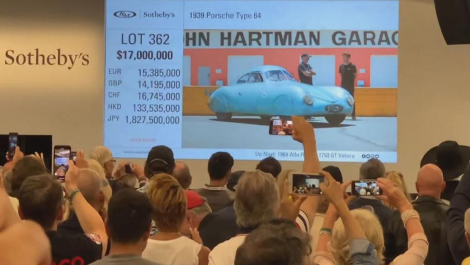 Auctioneer's Accent Throws Bidding for Historic Porsche Into Chaos