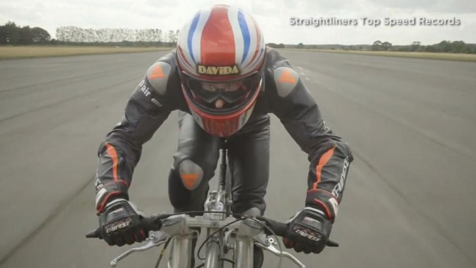 A cyclist set a world record when he biked more than 174 mph over the weekend.