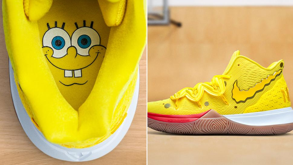 The Kyrie x SpongeBob SquarePants features all of Bikini Bottom's biggest personalities.