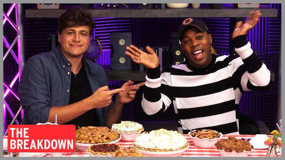 "Watch a pie-themed mukbang with host Luke Mones and Todrick Hall, who is starring in Broadway's ""Waitress."""